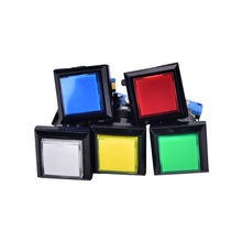 Game-Machine Momentary Push-Button Arcade Led Square 1PCS 5-Colors Illuminated