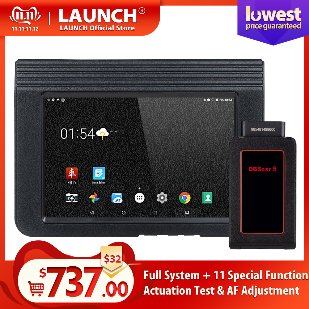 LAUNCH X431 V 8 Inch Wifi/Bluetooth Auto Diagnosis-tool Full System X-431 V 8 Version OBD2 Car Scanner With 2 Years Free Update