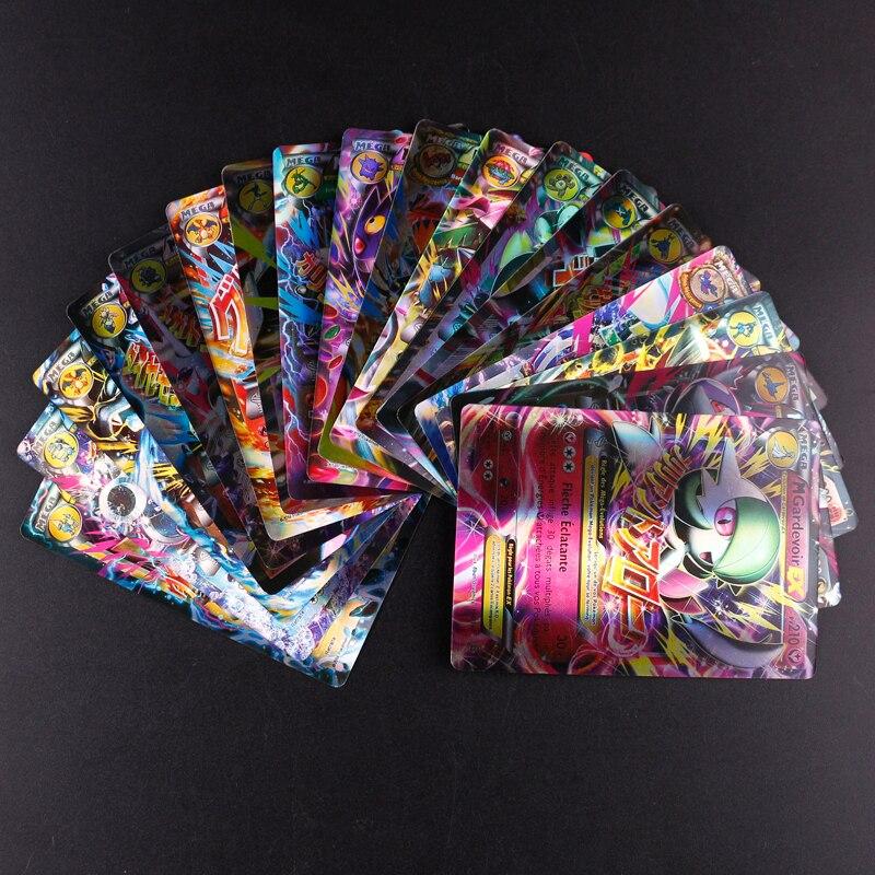 18PCS/SET TAKARA TOMY Pokemon French MEGA Flash Cards Collection Battle Children's Toys Gift