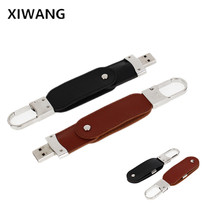 New pen drive 16gb pendrive 32gb metal Leather USB flash 64gb 128gb 8gb memoria usb 360 degree rotation memory stick