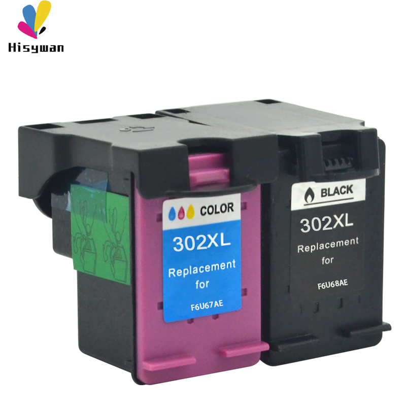Hisywan 302XL remanufactured F6U66AE F6U65AE <font><b>ink</b></font> cartridge for <font><b>HP</b></font> 302 <font><b>Deskjet</b></font> 1111 1112 <font><b>2130</b></font> 2135 1110 3630 363 <font><b>printer</b></font> image