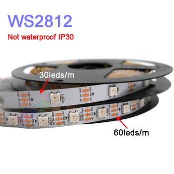 25m 20m 15m 10m 5m ws2812b led strip ws2812b ic 30 leds m rgb smart pixel strip colorful x2 led controller led power supply 5m/lot WS2812B Smart led pixel strip;DC5V 30/60 pixels/leds/m;WS2812 IC;WS2812B/M,IP30/IP65/IP67,Black/White PCB
