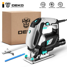 DEKO Jig Saw Variable Speed​Electric Saw with 1 Piece Blades, 2 Carbon Brushes, 1 Metal Ruler, 1 Allen Wrench Jigsaw Power Tool