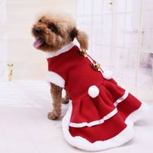 Cute Christmas Dog Clothes Solid Color Knit Xmas Coat Sweatshirt Cat Pet Dress Y5GB(China)