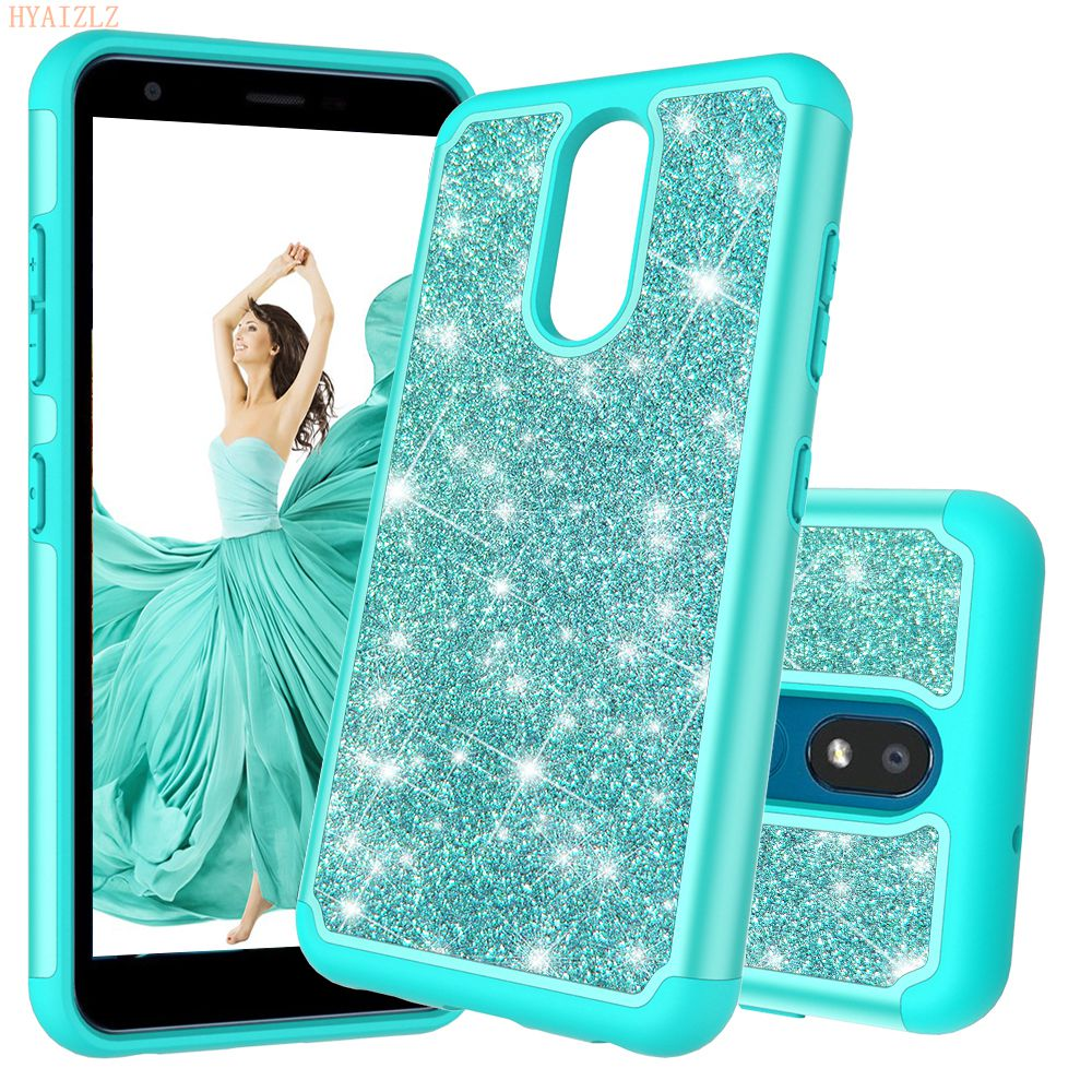 Case For LG K30 X2 2019 K40 K12 Plus Stylo 5 G8 Thinq V40 Phone Shell Glitter Bling Dual Layer Heavy Duty Protective Back Cover