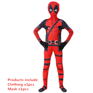 Image 4 - Deadpoo Death Serve 2 Tights Halloween Costume Adult Children Dead Cosplay Costume Adult Set