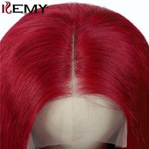 Image 5 - 99J/bordo kısa Bob İnsan saç peruk 13x4 dantel ön peruk ön koparıp brezilyalı düz dantel ön peruk kadınlar için Remy 150%