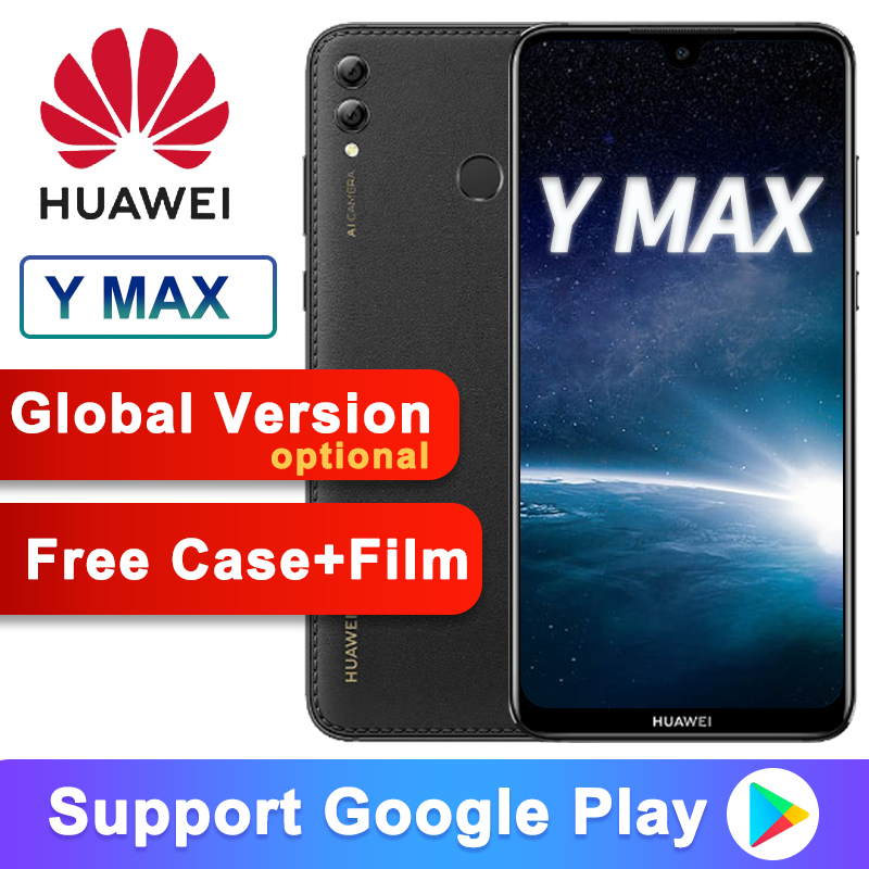 Global Versão Opcional Huawei Y Max Gosta de Max 7.12 polegada 5000mAh Telefone Inteligente 4GB 128GB Snapdragon 660 Octa núcleo Dual Câmera Traseira