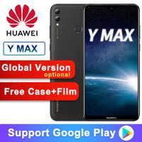 Version mondiale en option Huawei Y Max profitez maximum 7.12 pouces 5000mAh téléphone intelligent 4GB 128GB Snapdragon 660 Octa core double caméra arrière