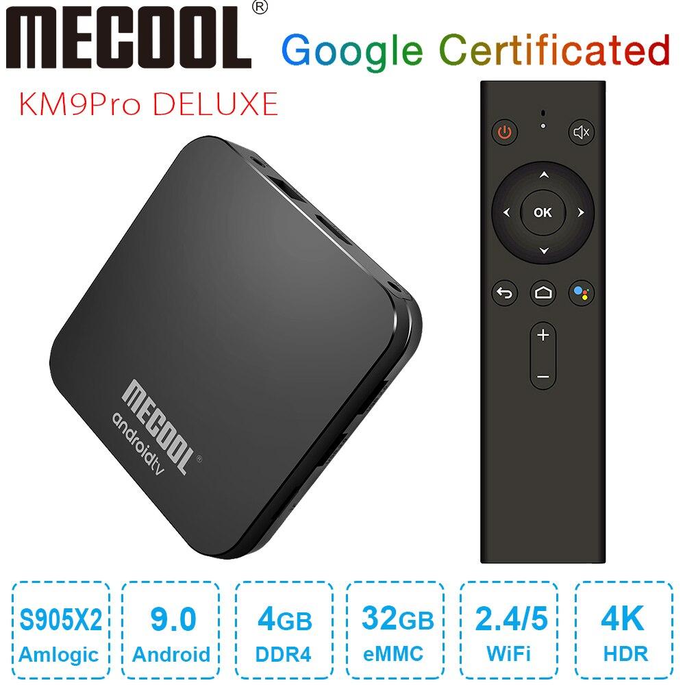 MECOOL KM9 Pro Deluxe Android 9.0 TV Box Google Zertifiziert Smart TV Box 4GB DDR4 32GB Amlogic S905X2 4K 2,4G 5G Dual Wifi BT4.0