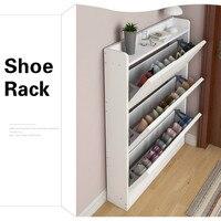 Shoe Cabinet Simple Wooden Shoe Rack Home Dormitory Shoe Shelf Dustproof Fashion Multifunction Shoes Racks Home Furniture