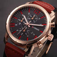 CURREN montres hommes Top marque Sport de luxe montre à Quartz bracelet en cuir horloge hommes montre-bracelet étanche Relogio Masculino