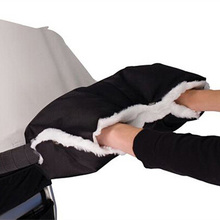 Детские теплые варежки на коляску, зимняя муфта для рук, Детские Водонепроницаемые рукавицы, сцепка для коляски, толстые флисовые перчатки