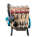 Mini In-Line Four-Cylinder Car Engine Assemble Runnable Engine Model