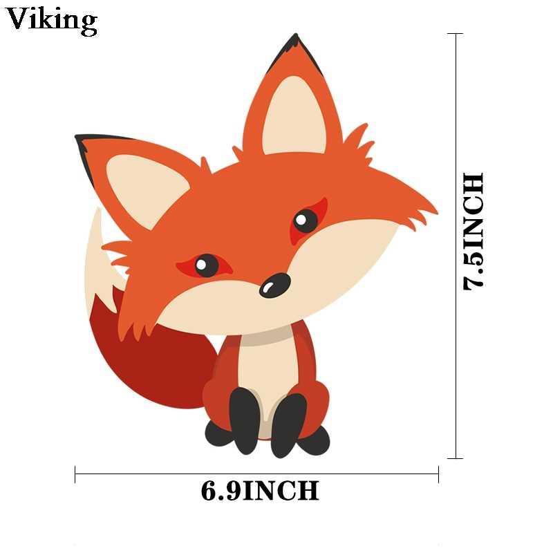 Cartoon Vos Thermische Patches Leuke Diy Warmteoverdracht Patch Stickers Iron-On Kleding Accessoire Thermische Patches Voor Familie G0588
