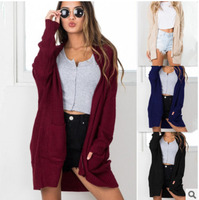 LEH 2019 Autumn Winter Women Cardigan Knit Coat Regular Sleeve Knitwear Cardigan Large Size Sweater Cardigan Female Elegant Coat