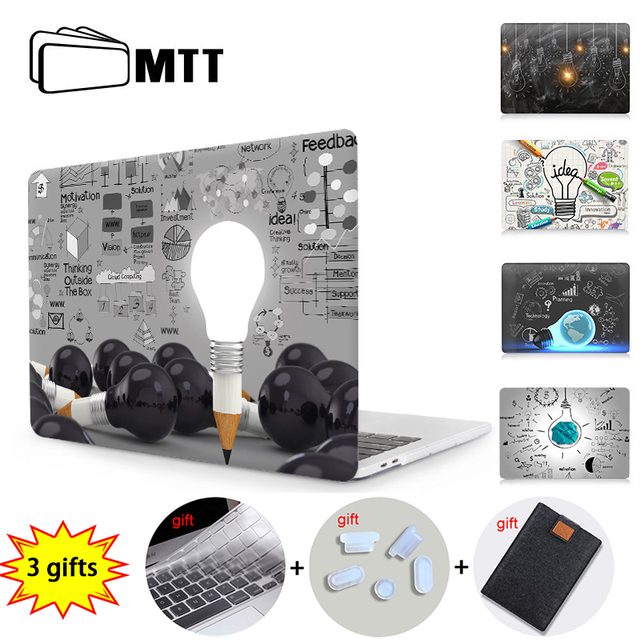 MTT Laptop Sleeve For Macbook Air Pro 11 12 13 15 Retina With Touch Bar Light Bulb Print Case For Apple Mac book 13.3 inch Cover
