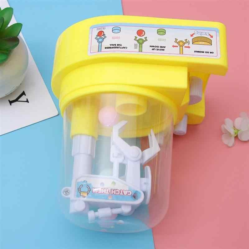1pc ミニキャンディグラバーキャッチャー機械式アームスモールボールクレーン機ハンドヘルドキャッチ玩具キッズ子供