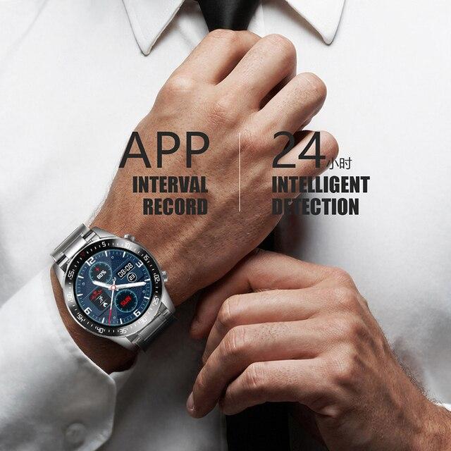 Lige 2020 nova banda de aço relógio digital dos homens do esporte relógios eletrônicos led masculino relógio de pulso para homens relógio à prova dbluetooth água bluetooth hora 5