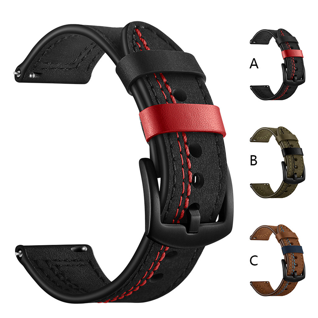 Leather Strap For Huawei Watch GT 2 Smart Strap For Samsung Galaxy Watch 46mm 42mm Bracelet Watchband 22mm 20mm Leather Strap