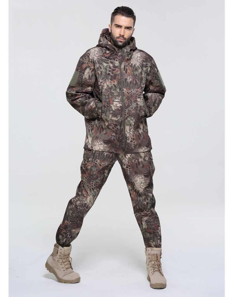 Качественная Бесплатная доставка, брендовые тактические военные uniforme Мультикам комплекты, камуфляжный флисовый костюм, водонепроницаемая верхняя одежда, куртка