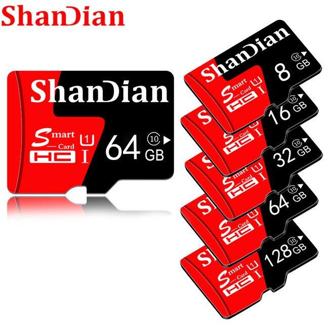 SHANDIAN tarjetas de memoria micro sd 8GB de capacidad Real 16 GB 32 GB de alta velocidad 64GB Clase 10 tarjeta micro sd tarjeta TF para teléfono/tableta pc