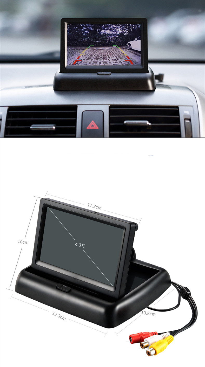 Wireless Car Monitor 4.3 TFT LCD Rear View Camer IR Universal Mirror Parking Assistance for ChevroletCruzeEpicaAveoMalibu  (14)