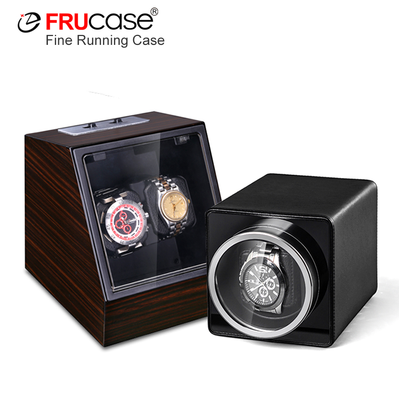 FRUCASE New Arrival White Single Watch Winder For Automatic Watches Watch Box Automatic Winder Storage Display Case Box