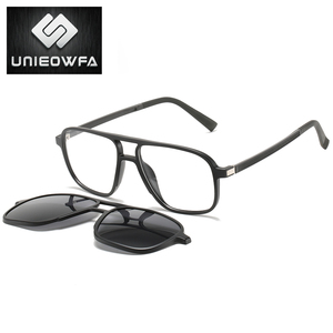 Image 4 - Opticalคลิปแม่เหล็กบนกรอบแว่นตาผู้ชายClear Prescriptionสายตาสั้นกรอบแว่นตาPolarizedแม่เหล็กคลิปแว่นตากันแดดผู้ชายยี่ห้อ