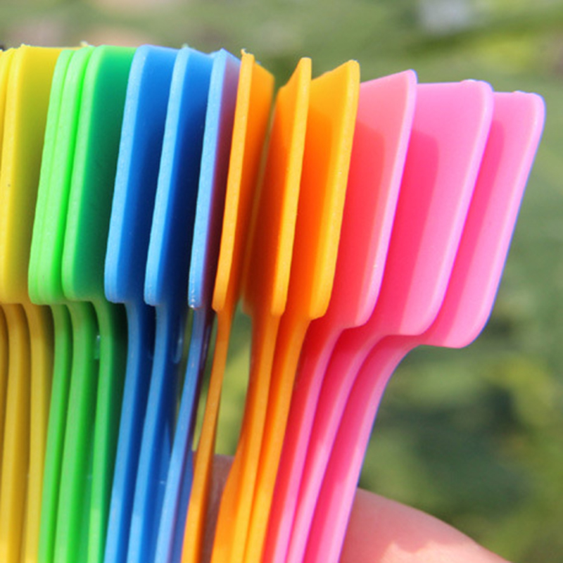 50PC Plastic Plant Tags T-Type Flower Name Labels Nursery Markers Price Tags Hot