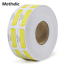 Customizable multi-function raffle ticket 1000pcs/roll 1x2 single roll thick paper