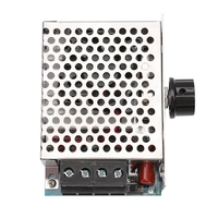 10000W High Power SCR regulacja prędkości napięcia regulator przełącznik kontroli temperatury ściemniacz termostat wentylator 110V 220V AC w Regulatory ciśnienia od Narzędzia na