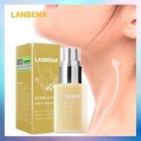 LANBENA увлажняющий крем для шеи, разглаживает морщины, укрепляет шею, отбеливает, питает, выцветает, тонкие линии, увлажняет, красота, уход за к...