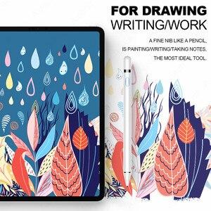 Image 5 - Stylus iPad iPad için iPad Pro 11 12.9 2020 10.2 2019 9.7 2018 hava 3 mini 5 palmiye reddi akıllı dokunmatik kalem için Apple kalem