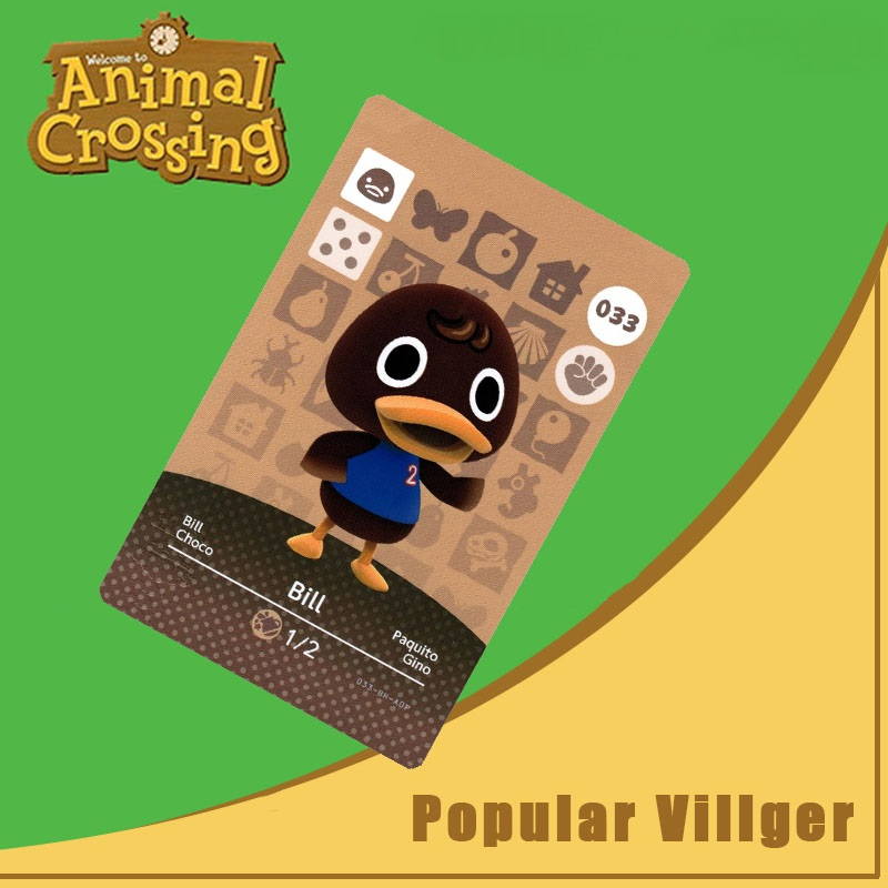 033 Bill Animal Crossing Amiibo Card Bill Amiibo Card Animal Crossing Series 1 Bill Nfc Card Work For Ns Games Dropshipping