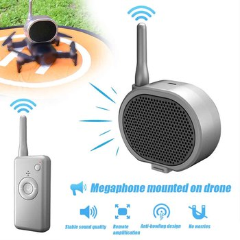 Aerial Broadcasting Quadcopter Accessory High Altitude Universal Drone Loudspeaker Clear Tone Calling Device For Hudson