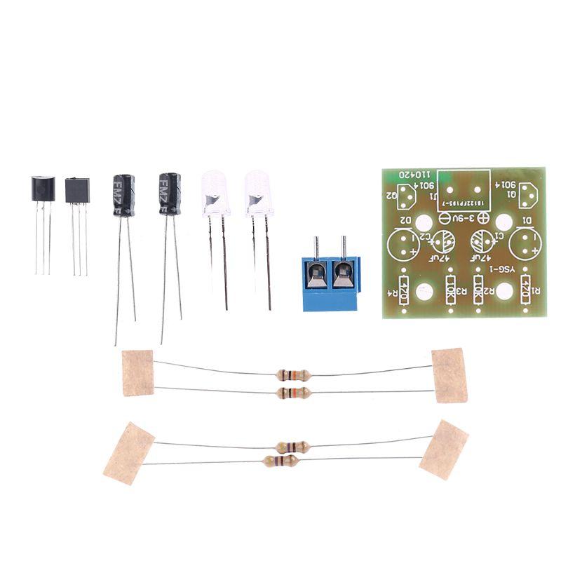 1Set Electronic DIY Making Kits Breathing Light Repair Parts Flashing Lamp Electronic Circuit Board Tools