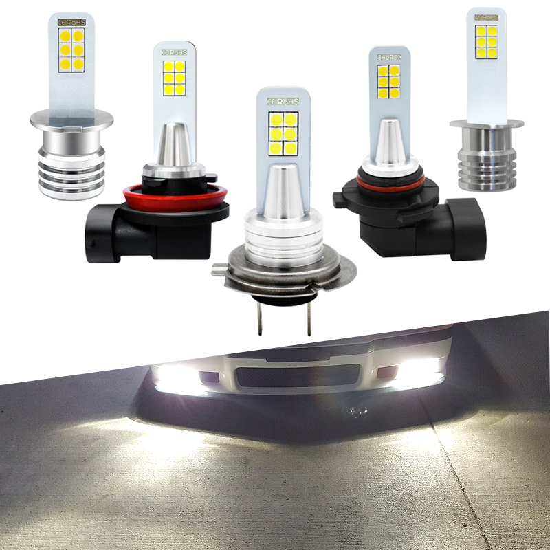 Fog-Lamp Led-Bulbs Car-Fog-Light-Bulb Automobile White H3 H1 HB4 H7 1200LM 12V 2pcs 9006