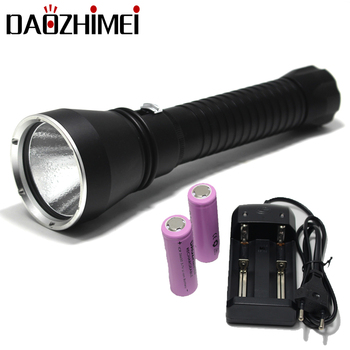 LED Diving Flashlight 4000 Lumens XHP70.2 Yellow/White Light LED Waterproof Diving Torch Underwater 26650 Tactical Hunting lamp