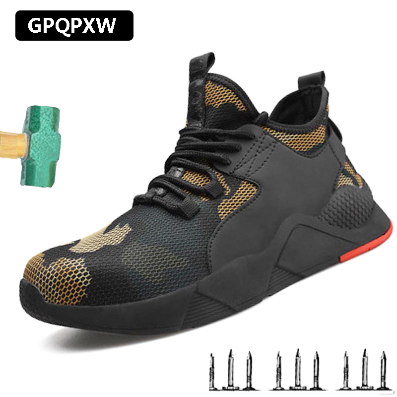 Outdoor Deodorant Breathable Work Shoes Anti-piercing Anti-smash Safety Shoes Male 2019 Machinery Manufacturing  Men's Boots