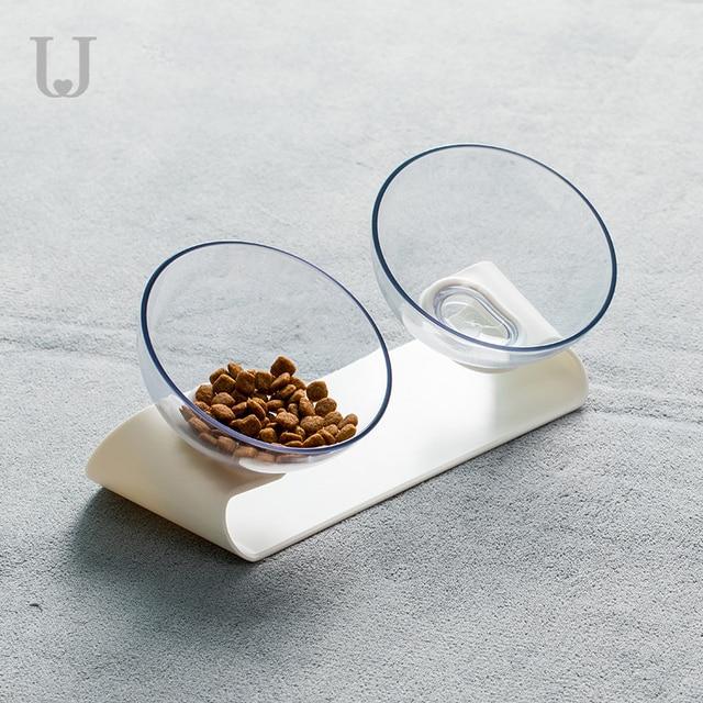 Youpin Jordan&Judy PE001 Pet Dog Cat Pet Double Bowl Transparent Tilt Design Healthy Material From Youpin