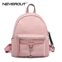 NEVEROUT Womens High Quality Waterproof Nylon Backpack Fashion Shoulder Bag Preppy School Bags for Teenagers Girls Travel