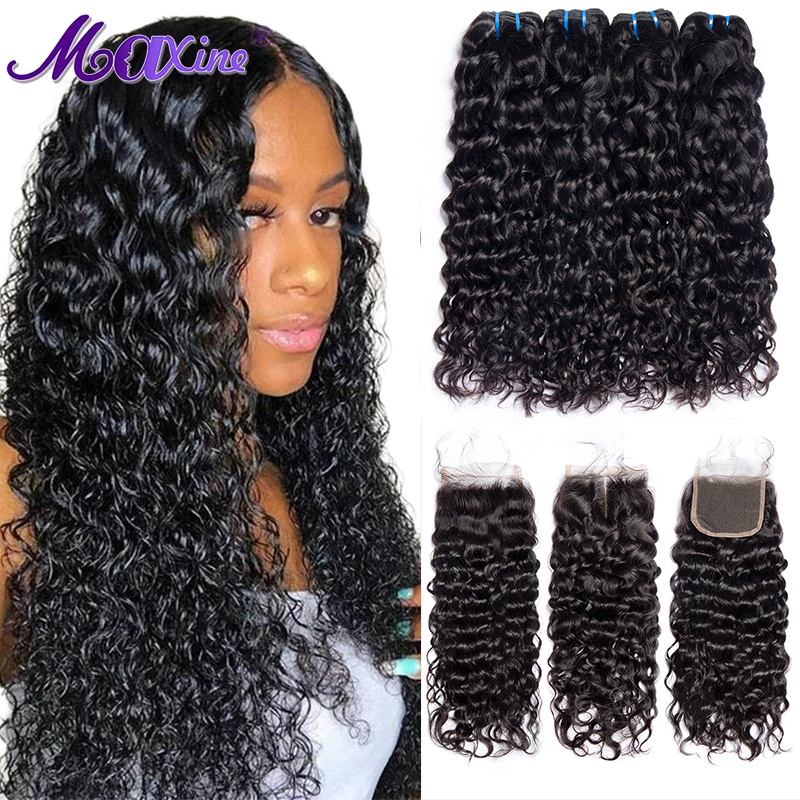 Пряди с застежкой, 3 пряди бразильских волос, волнистые и влажные человеческие волосы для наращивания