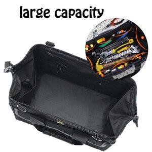 Image 2 - Вместительная сумка для инструментов, органайзер для инструментов, мужская дорожная сумка с ремнем через плечо, гаечный ключ, набор инструментов, плотницкая сумка рюкзак электрика