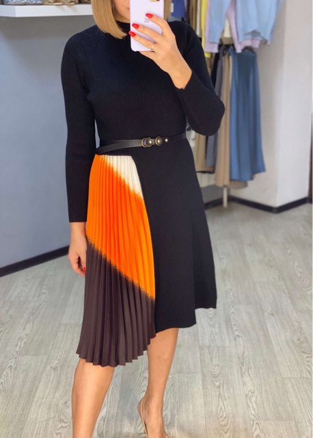 belted colorshade dress  5