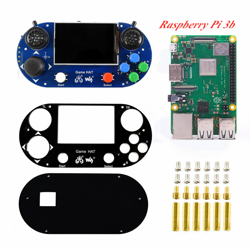 3.5Inch Raspberry Pi 3B+ Game HAT Handheld Game Console Case With Raspberry Pi 3B/3 Model B+ Make A Handheld Video Game Player