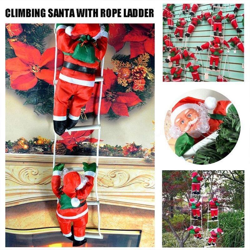 1Pc 25CM Christmas Santa Claus Dolls Decor Christmas Tree Hanging font b Baby b font font