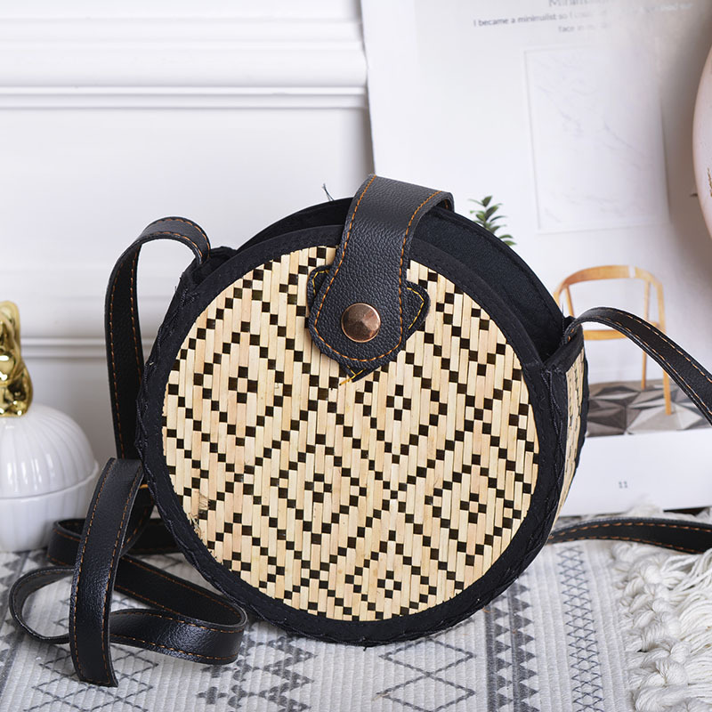 Lovevook Woven Rattan Bag Round Bamboo Bags For Ladies Summer Beach Bags For Travel Women Messenger Crossboday Bags 2020 Bohemia