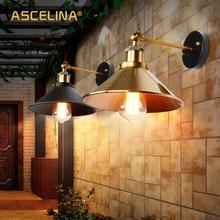 NEW Vintage Loft LED Wall Lamp  For Home Industrial Decor Retro Bathroom Lighting  Iron Lampshade E27 Edison Bedroom Wall Light