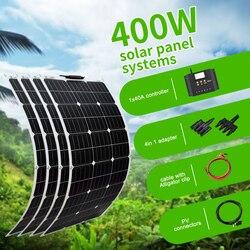 Boguang 100 واط لوحة طاقة شمسية 200 واط 300 واط 400 واط عدة Panneau solaire مرنة ل 12 فولت 24 فولت سيارة تعمل بالبطارية RV المنزل في الهواء الطلق الطاقة شحن